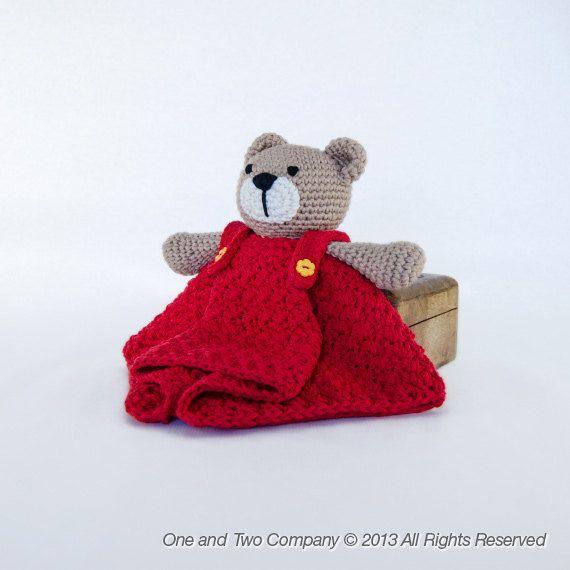 Teddy Bear Lovey Security Blanket Pdf Crochet Pattern Instant