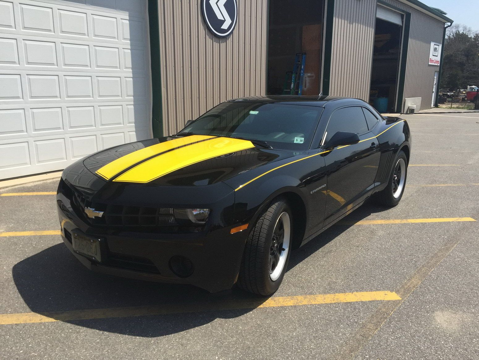 Camaro 2013 Yellow Black Stripes Www Imagenesmy Com