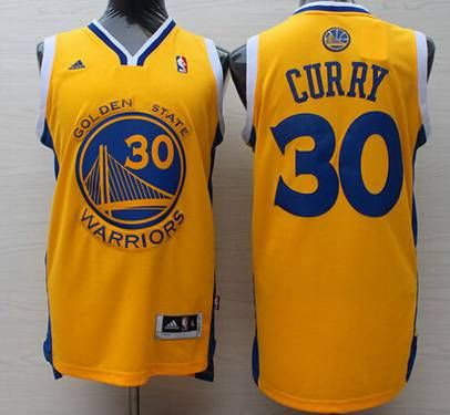 2b04ed56784 Men s Golden State Warriors  30 Stephen Curry Revolution 30 Swingman Yellow  Jersey