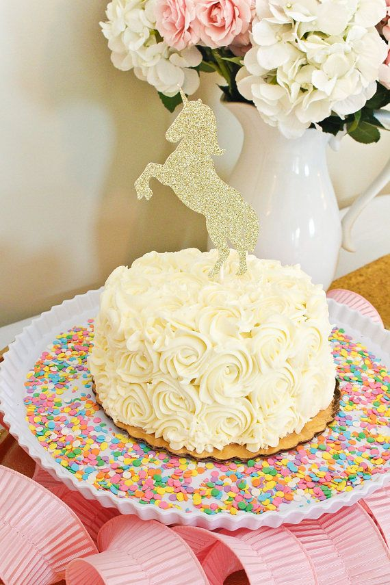 This Glitter Unicorn Cake Topper Is Perfect For 1st Birthday Parties Smash Sessions