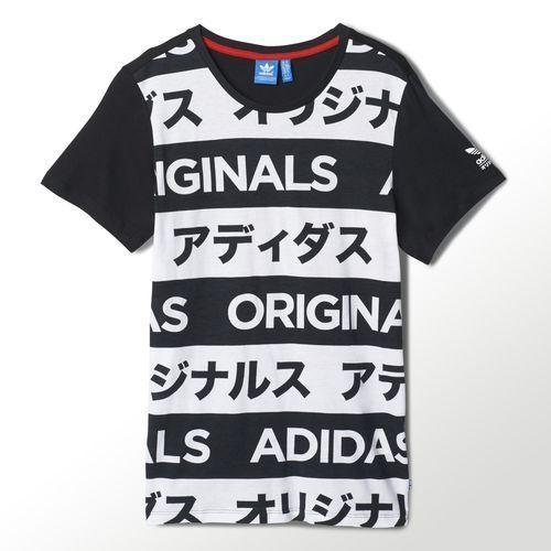 Adidas Originals Women's Allover Print Typo T-shirt #adidas #ShirtsTops