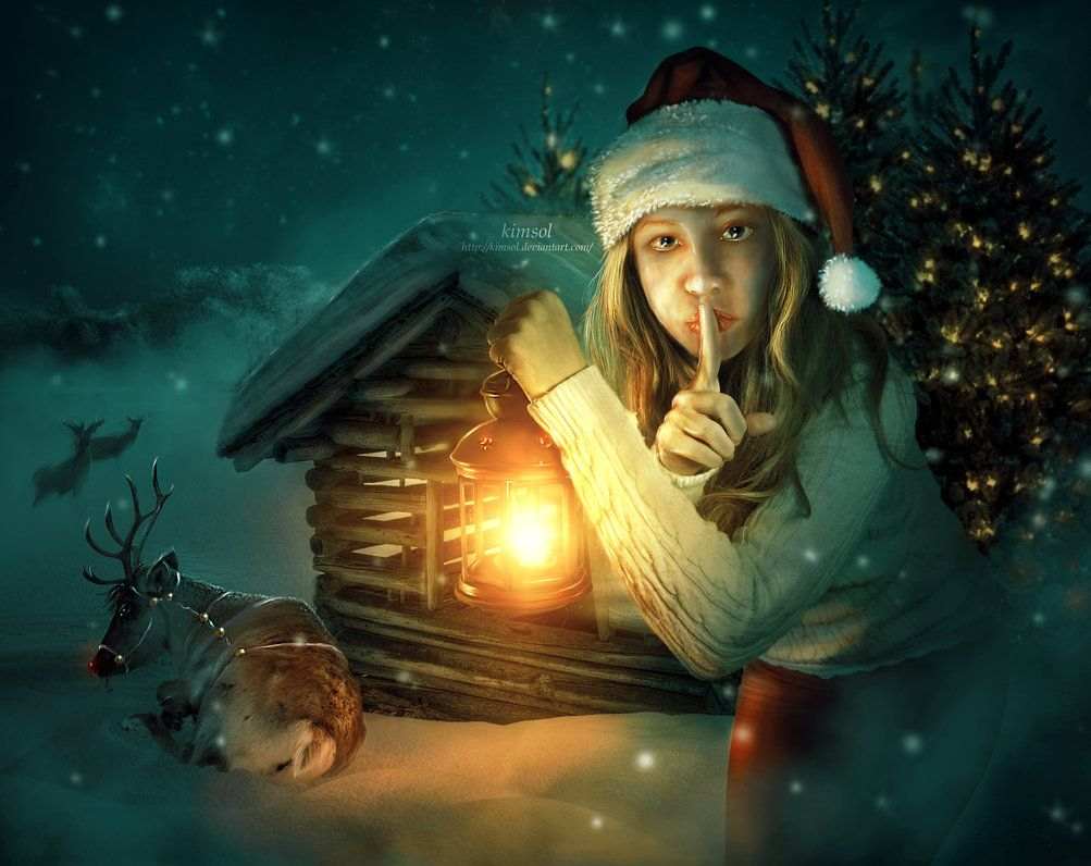 Shhh Don't Wake Rudolph by kimsol on DeviantArt