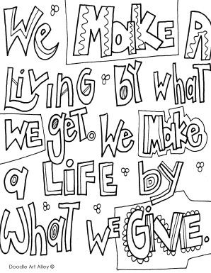 Wemakealiving Jpg Quote Coloring Pages Word Doodles Coloring Pages