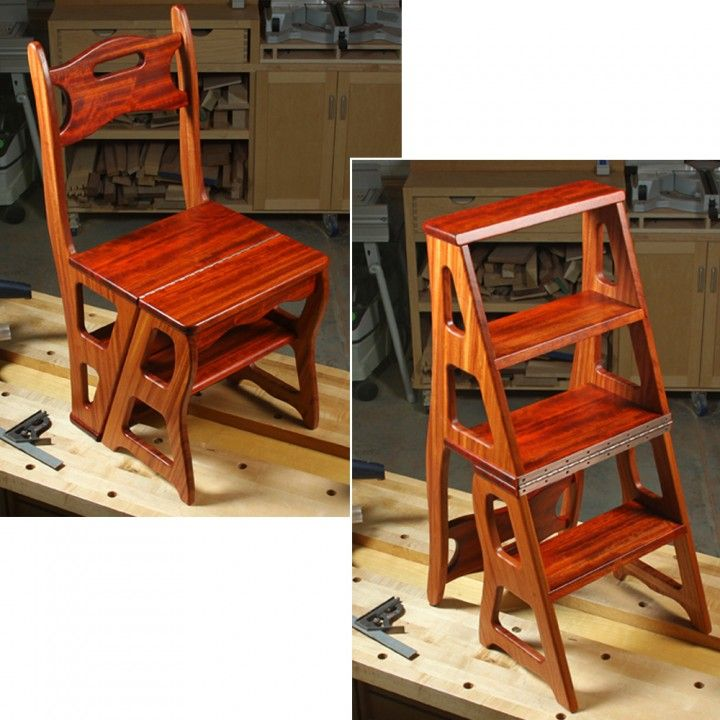 Woodworker S Journal Convertible Step Stool Chair Plan Easy