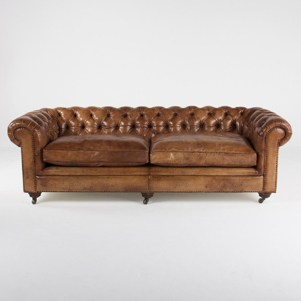 Sam Tufted Leather Vintage Light Brown Sofa Hd Ercup Online No Ordinary Furniture Los Angeles San Francisco