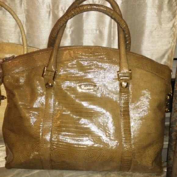 Two Vintage Caggiano Italian Handbags One Is Light Yellow