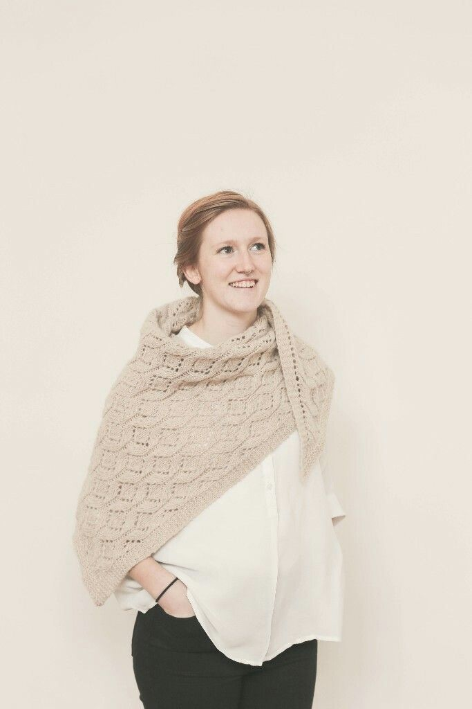 Just another simple Assym shawl w a stitch pattern....with a hefty price $7.50!
