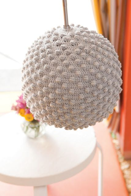 Witte Ronde Lampenkap Haken Crochet Pinterest Croché