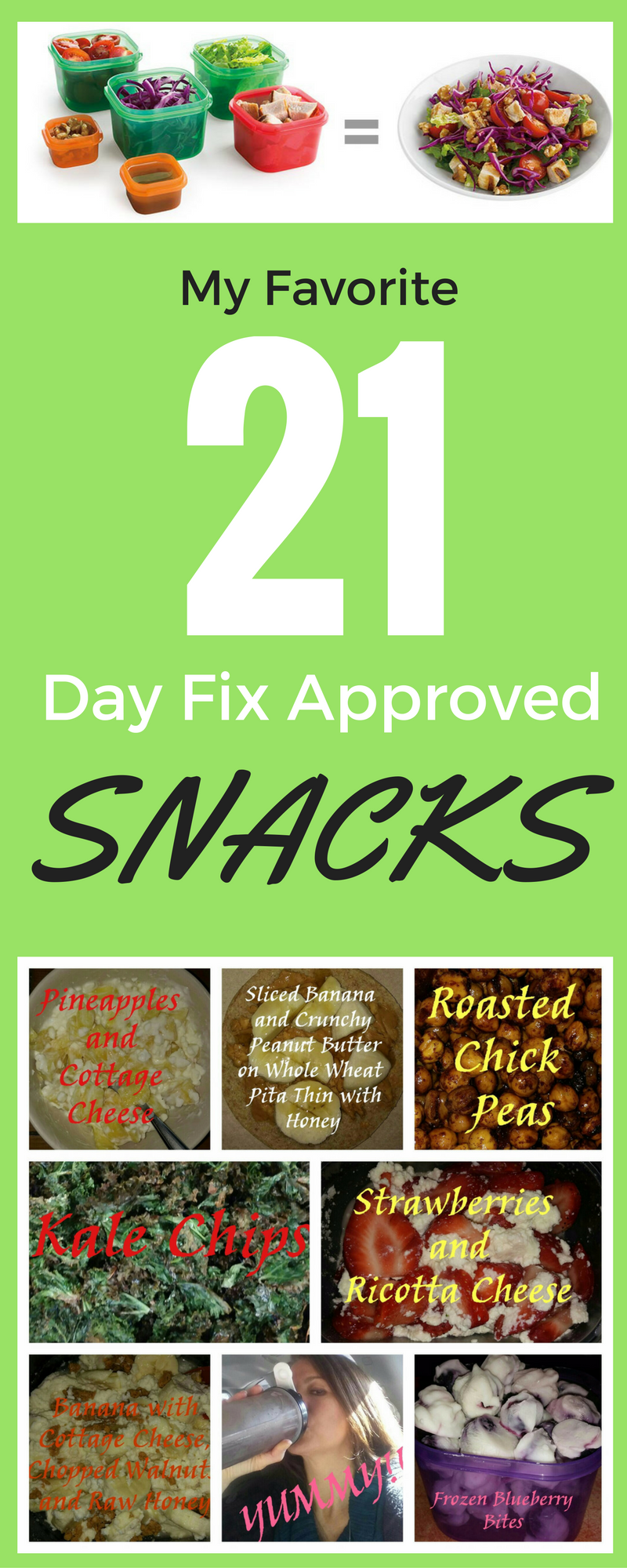 My Favorite 21 Day Fix Approved Snacks! Want to learn more ...