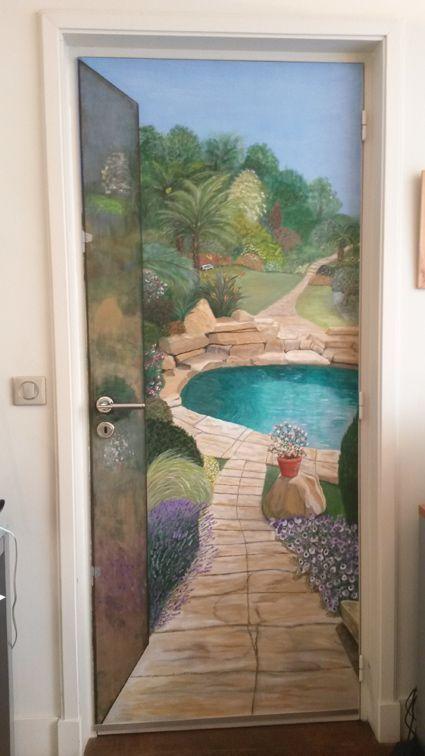 peinture porte trompe l oei ilusiones pticas pinterest ilusiones. Black Bedroom Furniture Sets. Home Design Ideas