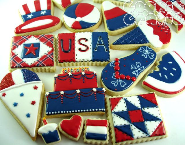 Cookiecrazie Happy Birthday America Decorated Cookies 4th
