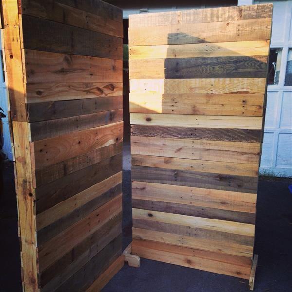 Diy pallet room divider 101 pallets stu stu stu studio for Homemade room divider ideas