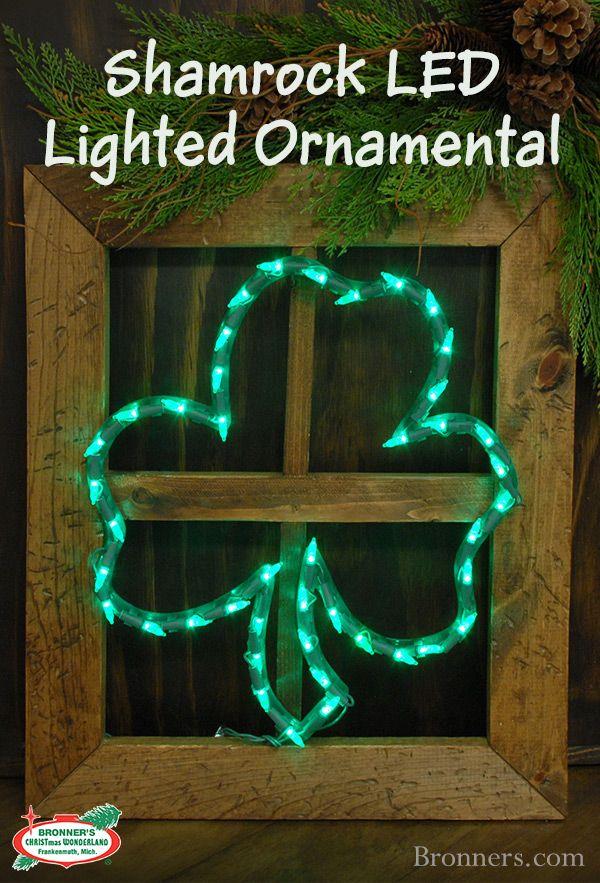 Shamrock LED Lighted Ornamental Ornaments, Christmas