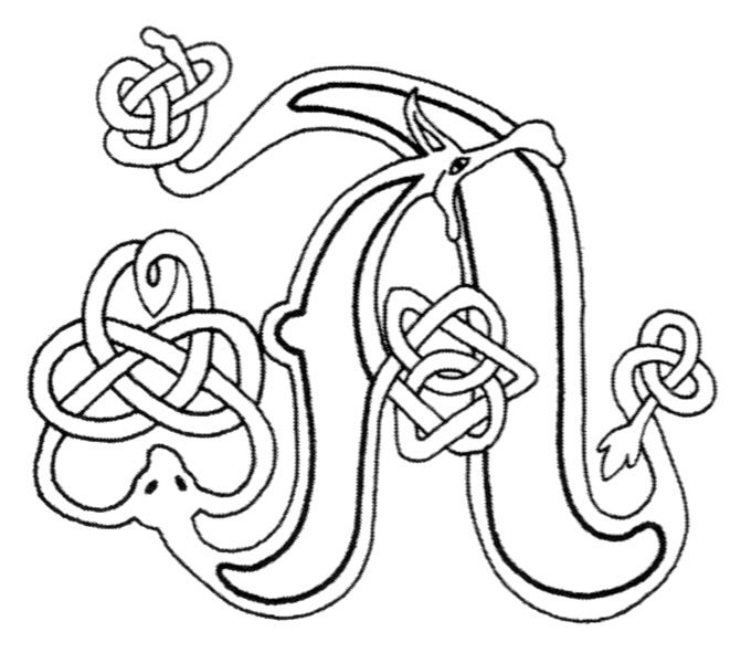 Celtic Letters Coloring Pages 90 Celtic Coloring Pages Irish