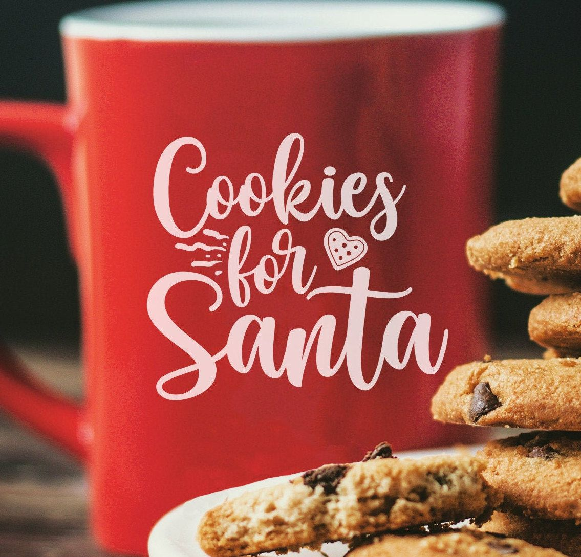 Cookies For Santa Svg Cookies Svgsanta Svgchristmas Etsy In 2020 Christmas Svg Christmas Prints Holiday Prints