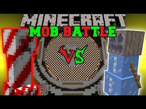 Herobrine Vs. Mutant Snow Golem - Minecraft Mob Battles - Herobrine Mob Mod - YouTube