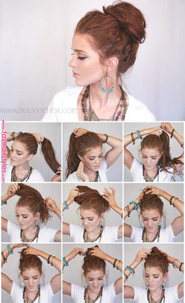 20 Stunningly Easy Diy Messy Buns When You Were A Kid I M Sure Your Mother Did Everythi Bun Hairstyles For Long Hair Messy Hairstyles Cute Bun Hairstyles
