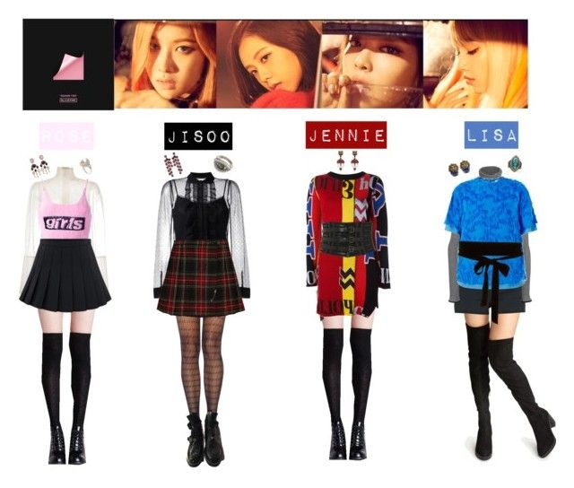 Blackpink Outfit Ideas: BLACK PINK - PLAYING WITH FIRE💙💜💚💛