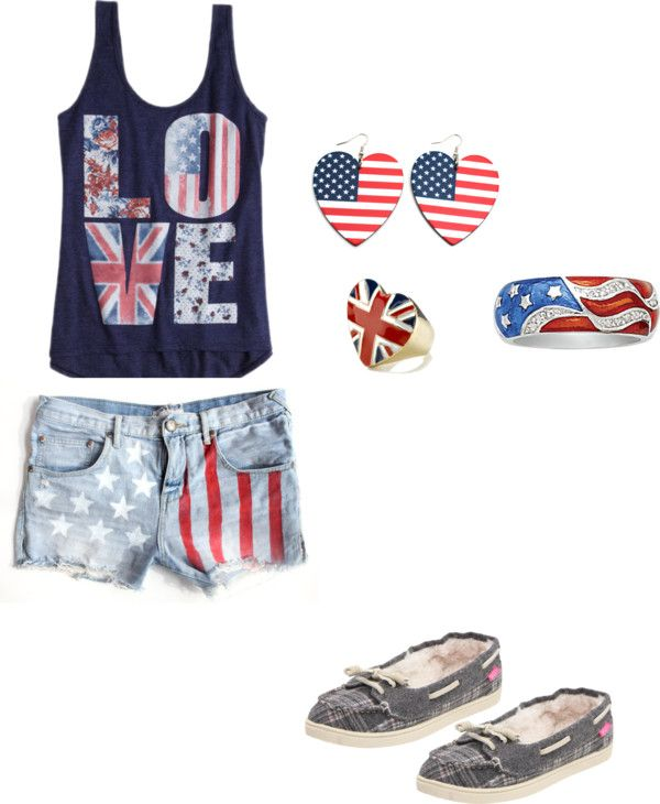 """""""Forth of July outfit"""" by nspat on Polyvore"""