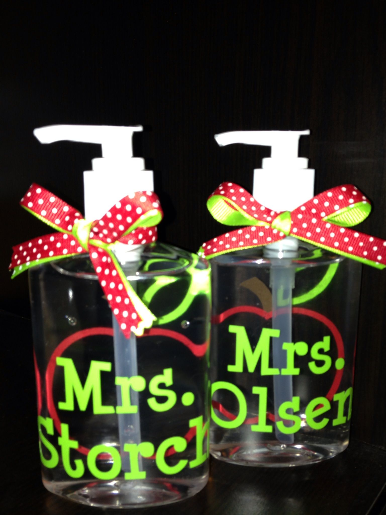 Hand Sanitizer As Teacher Gifts Personalized With Vinyl Names