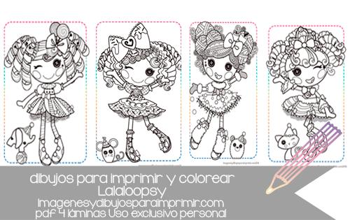 colorear a las preciosas muñequitas de lalaloopsy en pdf ...