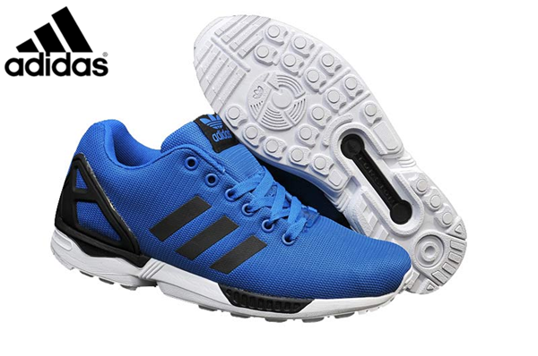 Men's adidas Originals ZX Flux Firework Prints Shoes Blue
