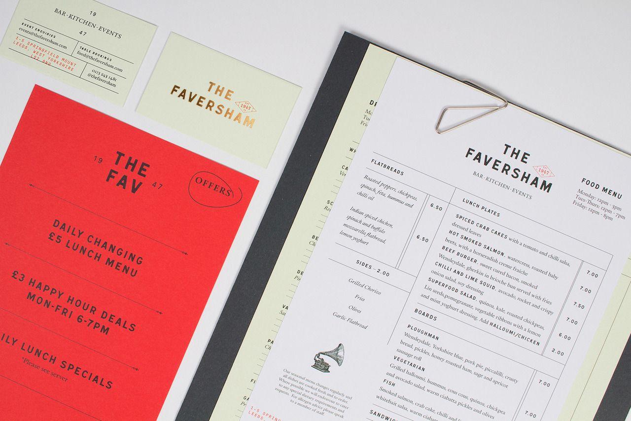 The Faversham Branding Mindsparkle Mag Restaurant Branding Menu Design Branding