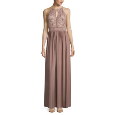 R M Richards Sleeveless Keyhole-Neck Sequin Lace Bodice Evening Gown -  JCPenney d70b726a8