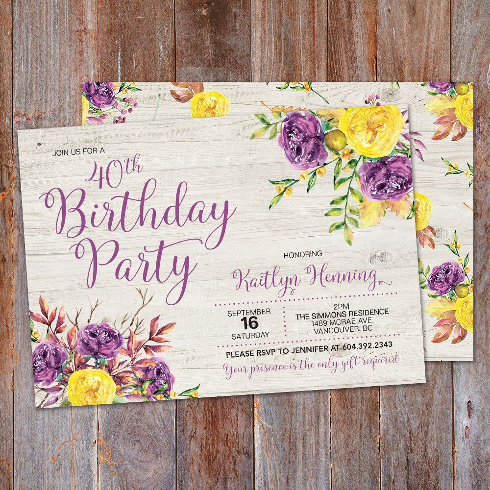 Fall birthday invitation adult birthday invitation rustic birthday fall birthday invitation adult birthday invitation rustic birthday autumn birthday invite boho birthday invitation thanksgiving invite filmwisefo Images