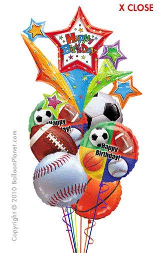 Sports Champ Birthday Balloon Bouquet 7 Balloons