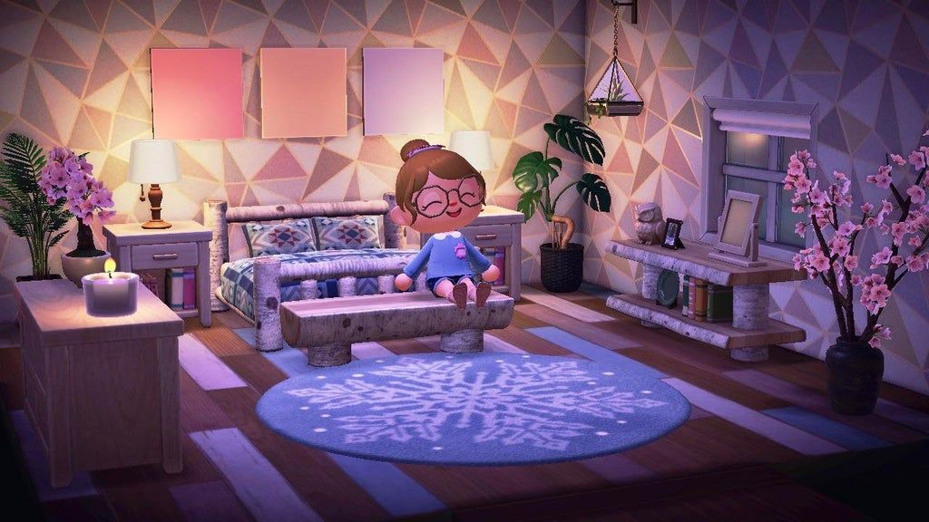My Bedroom Is Pretty Basic But I M Proud Of It Nontheless Animalcrossing Animal Crossing Animal Crossing Game Room Ideas Bedroom