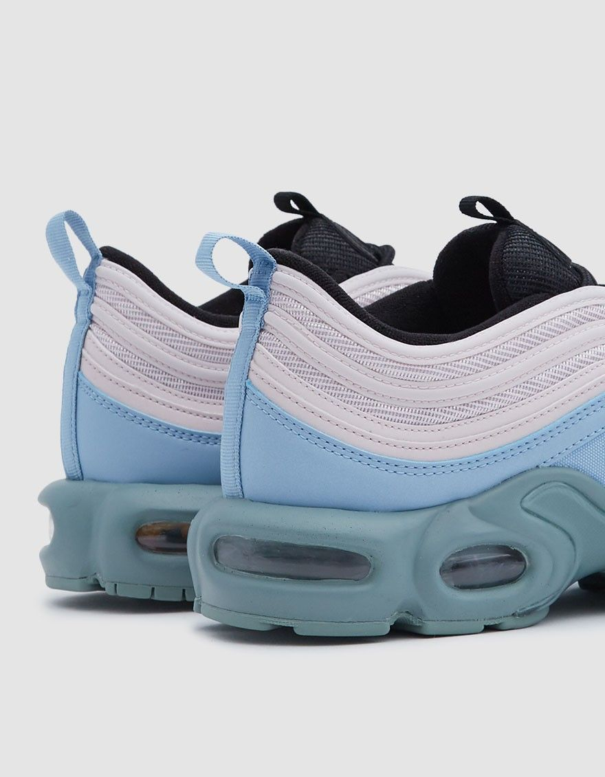 Air Max Plus 97 from Nike in Mica Green, Leche Blue and Barely Rose.