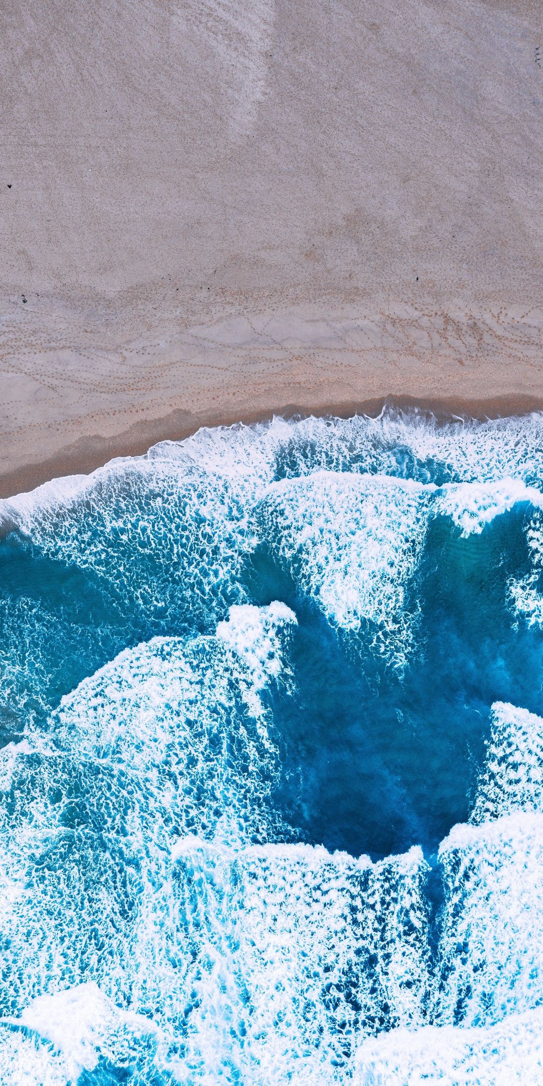 Aerial View Blue Sea Waves Beach 1080x2160 Wallpaper Stock Images Free Hand Silhouette Iphone Wallpaper