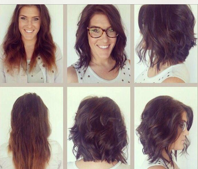 AvantApres // Carré long Style Hair styles, Hair cuts