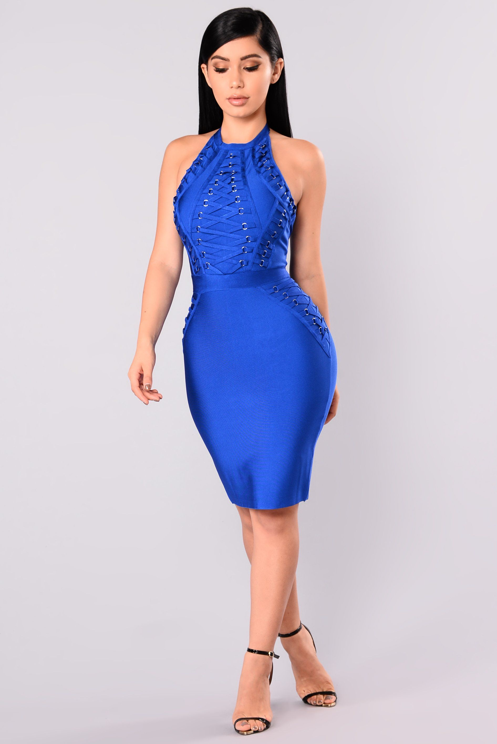 Peggy Bandage Dress , Royal