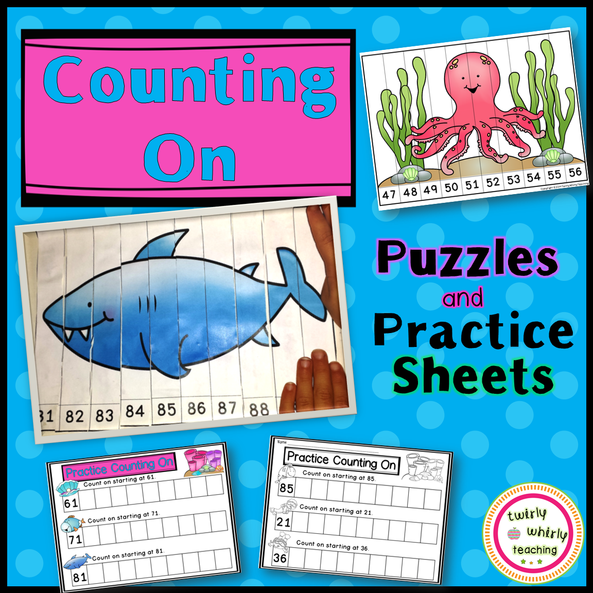 Counting Puzzles 1-100 ocean-themed | Pinterest | Math, Students and ...