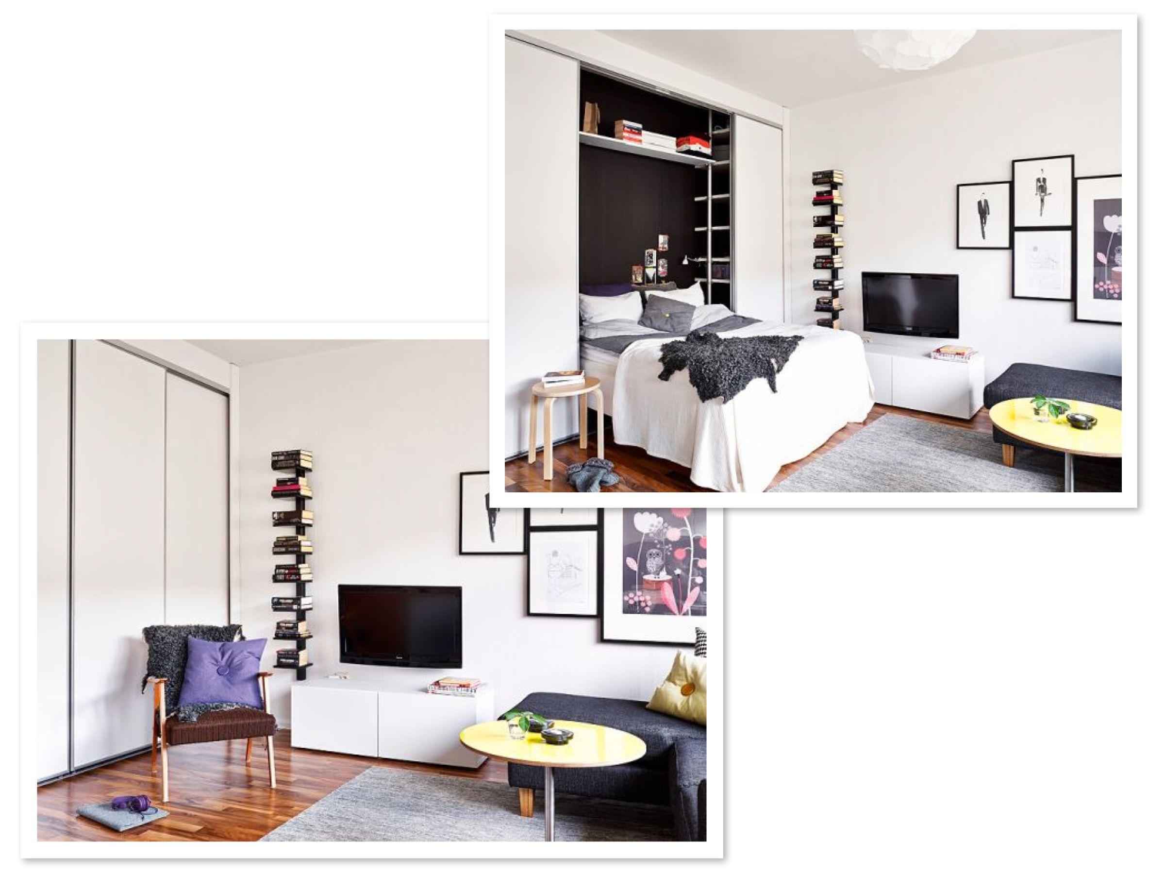 Dropdown bed closet with sliding door! Interior design