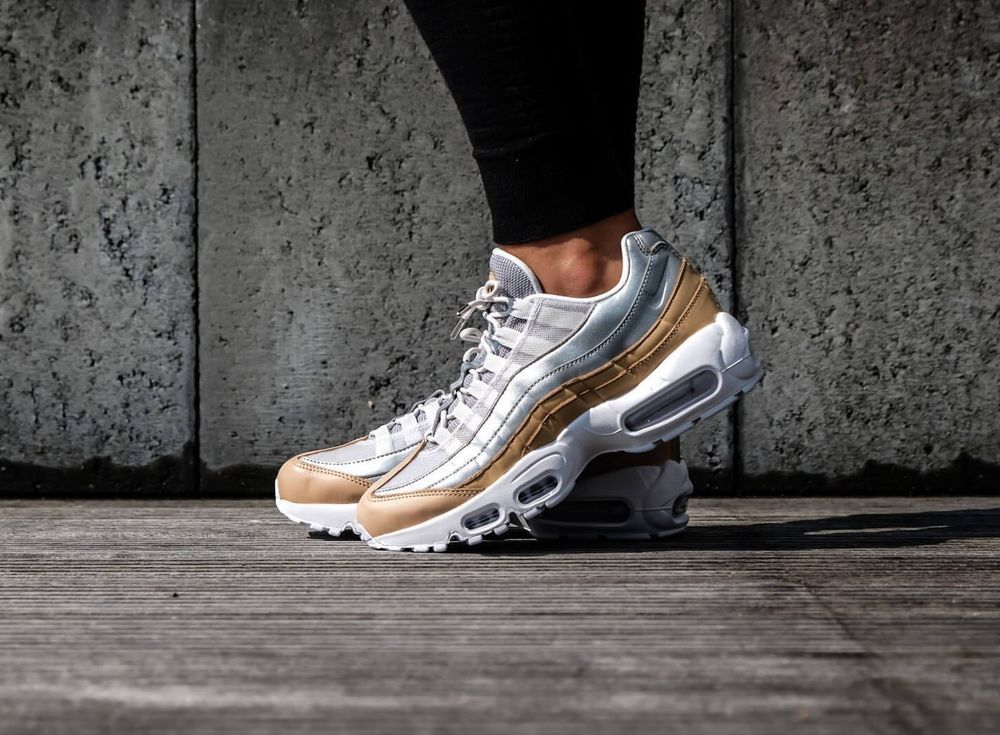 best loved 3c29e c078a Nike Air Max 95 PRM SE   Platinum Beige Silver   Womens Trainers   AH8697-002   Nike  Lifestyle