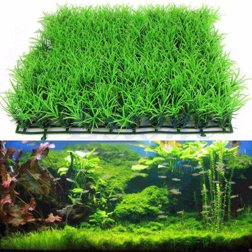 New Artificial Water Aquatic Green Grass Plant Lawn Aquarium Fish Tank Landscape