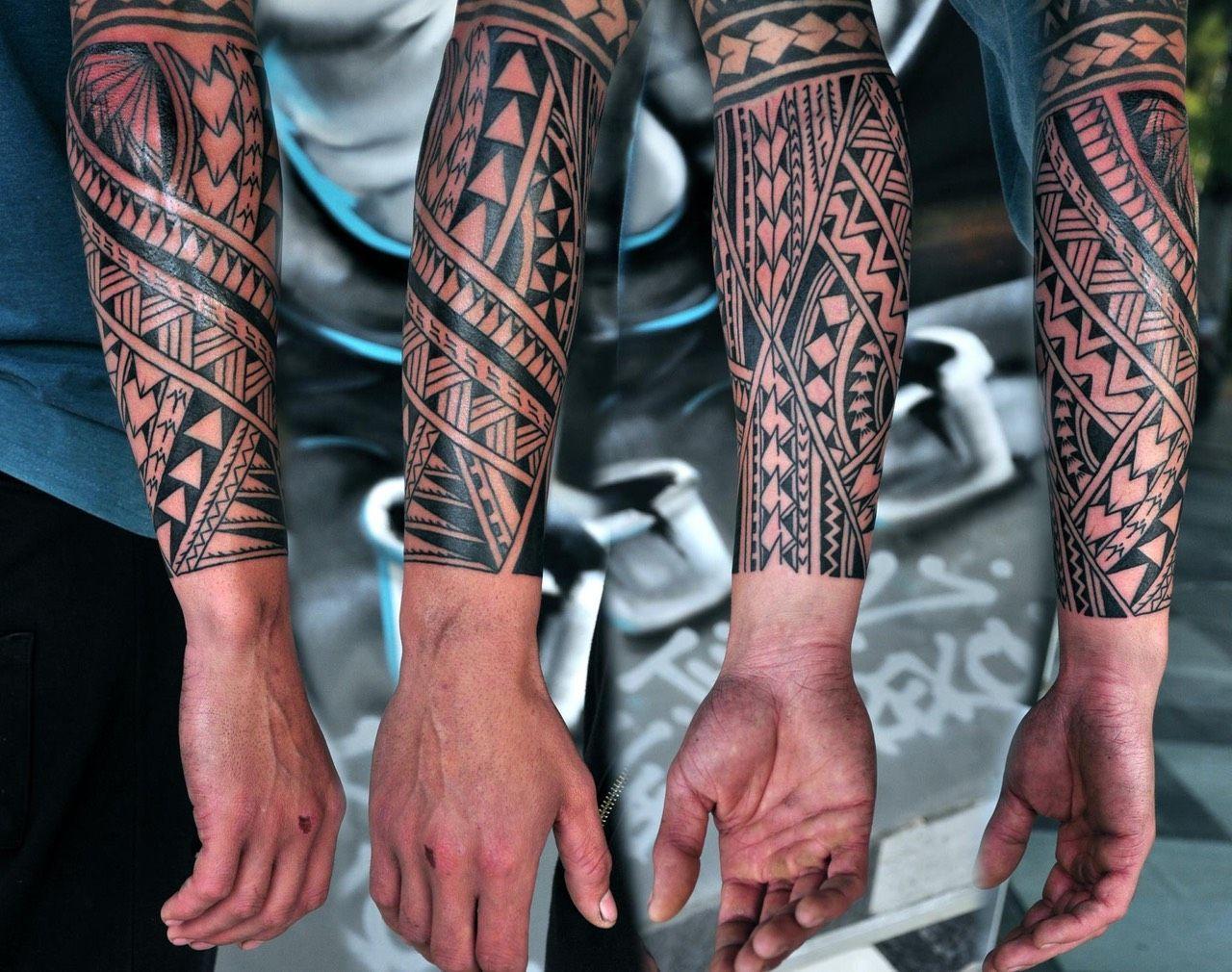 Manospaterakis tattoospolynesiansleeve polynesian