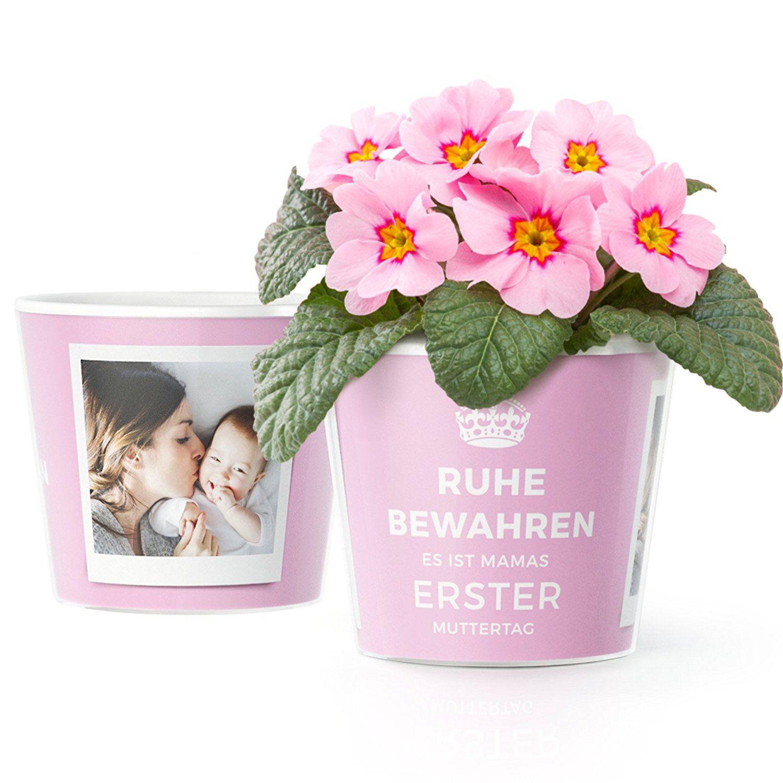 Blumentopf   Geschenk zum ersten Muttertag mit Rahmen für zwei Baby ...