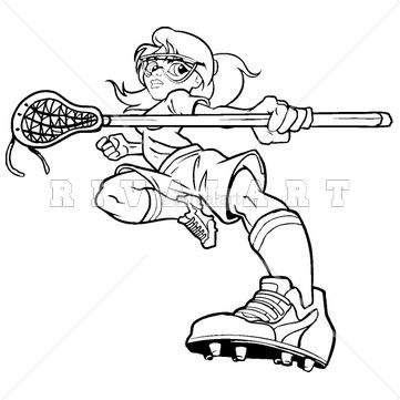 sports clipart image of a womens lacrosse player lacrosse clip art rh pinterest ie Lacrosse Player Clip Art girls lacrosse clip art