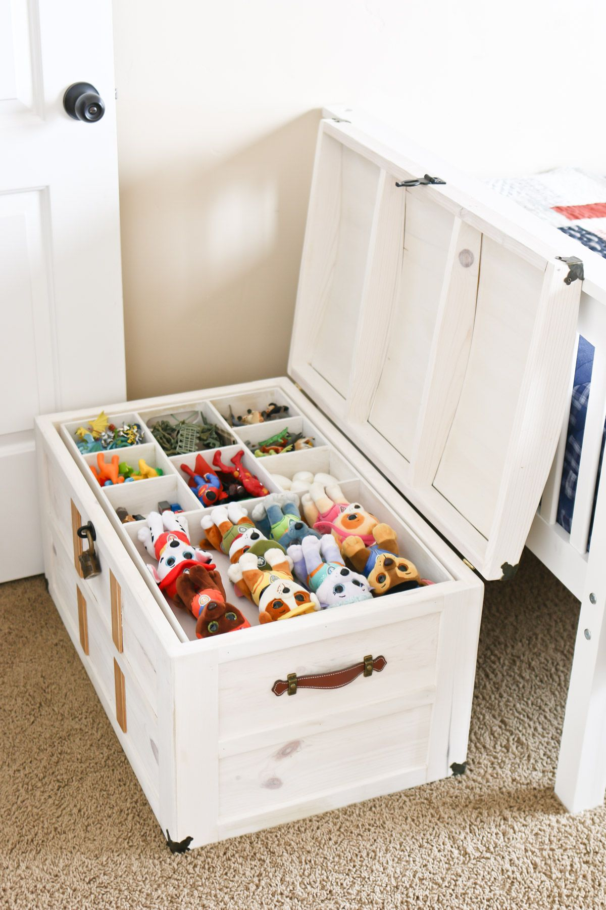 Diy Toy Storage Treasure Chest Diy Toy Storage Storage Kids Room Kids Rooms Diy