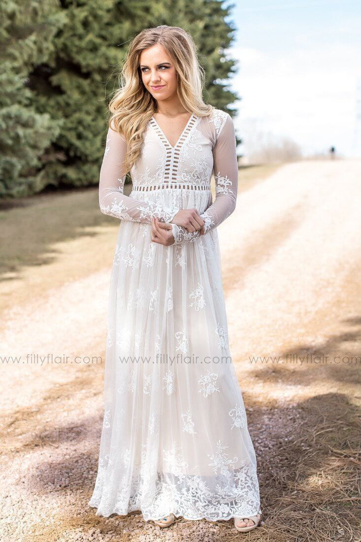 Eternal love lace cut out maxi dress in ivory want pinterest