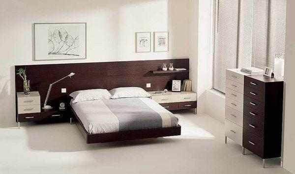 bett holz kopfteil einrichtungsideen schlafzimmer wanddeko Home