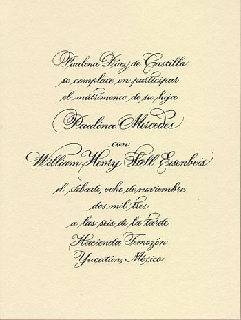 Like The Font Wedding Invitations In Spanish