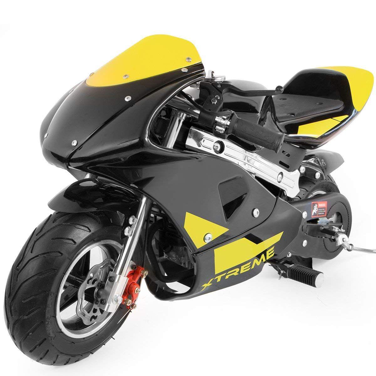 XtremepowerUS Gas Pocket Bike Motorcycle 40cc 4-Stroke