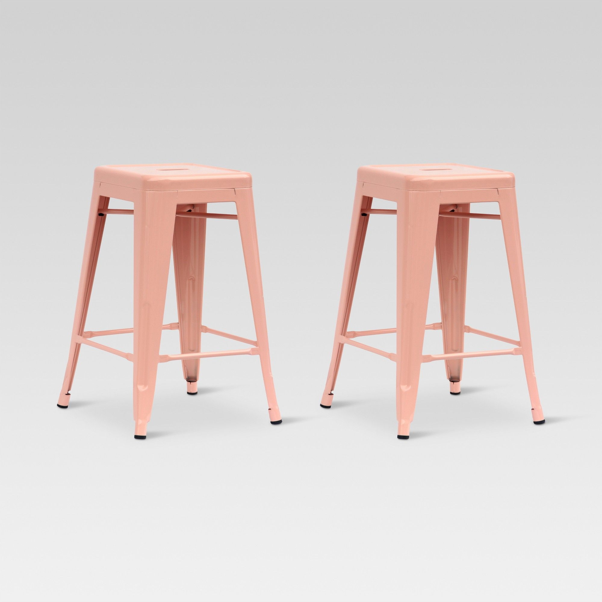 Admirable Carlisle 24 Metal Counter Stool Dusty Pink Set Of 2 Camellatalisay Diy Chair Ideas Camellatalisaycom