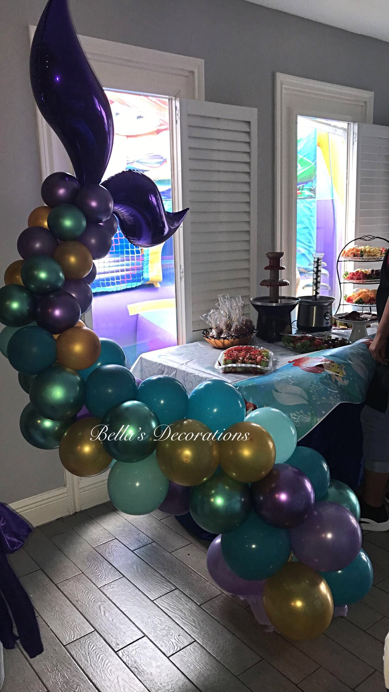 Mermaid Balloon Tail Fb Bella S Decorations