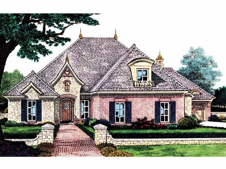 Traditional Style House Plan 3 Beds 2 5 Baths 2391 Sq Ft Plan 310 677 French Country House French Country House Plans European House Plans